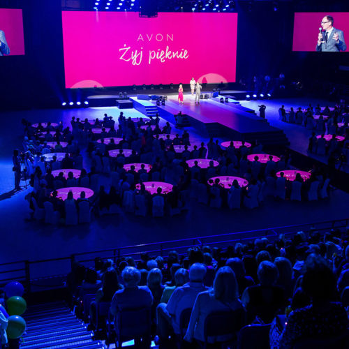 Konferencja AVON – Żyj pięknie - scenografia