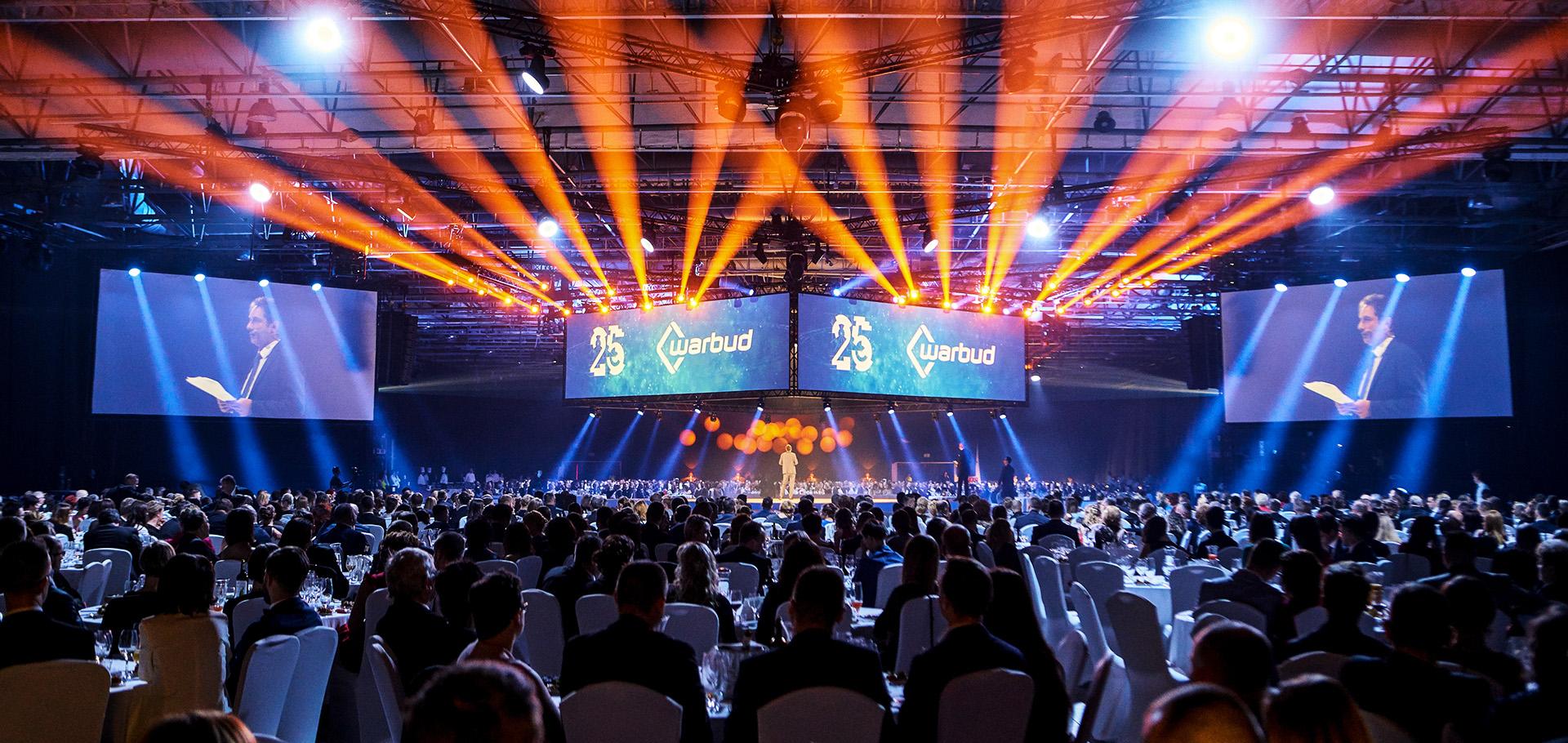 Uroczysta gala na 25-lecie firmy Warbud - Hala EXPO XXI