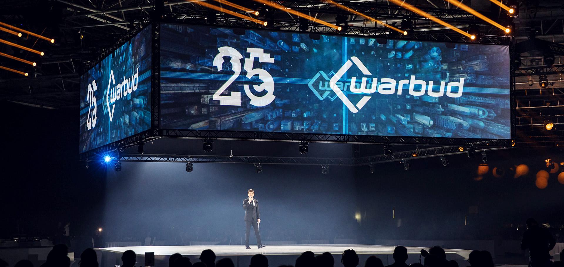 Uroczysta gala na 25-lecie firmy Warbud - gospodarz jubileuszu: Tomasz Kammel