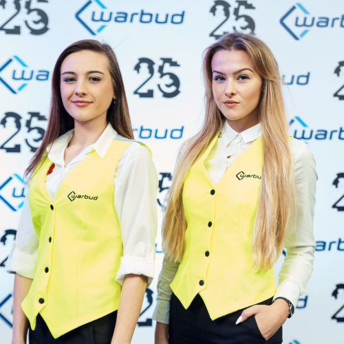 Gala celebration of the 25th anniversary of Warbud - hostesses