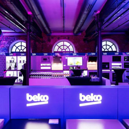 Konferencja produktowa BEKO – salon wystawowy